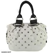 Ladies White Leather Handbag