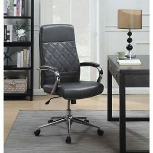 Picket House Atkins Ergonomic Mid-Back Executive Office Chair - Grey