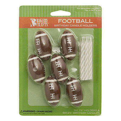 Football Cake Toppers (Football Cake Candle Holders Toppers Party Supplies decorations)