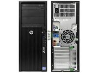 HP Z420 WORKSTATION W7 PRO E5-1620 3.60GHz 12GB 1TB SATA NVIDIA QUADRO inin