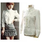 Ladies White Frilly Blouse