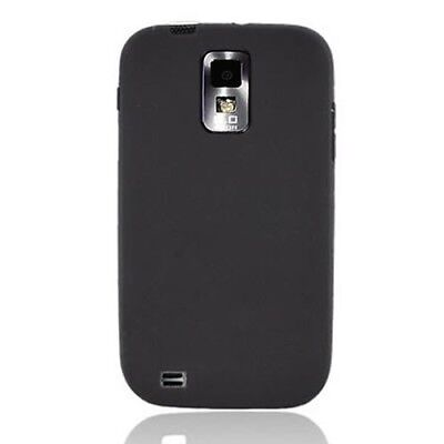 Silicone Skin Black Case For T-Mobile Samsung Hercules Galaxy S II T989 Phone for sale  Shipping to India