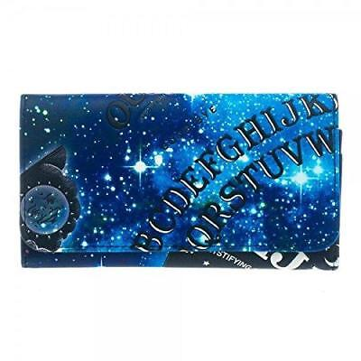 Ouija Womens Girls Flat Blue Fold Wallet Purse Pouch - Flat Wallet Purse