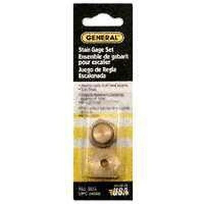 New General Tools 803 Brass Carpenter Stair Gauge Set