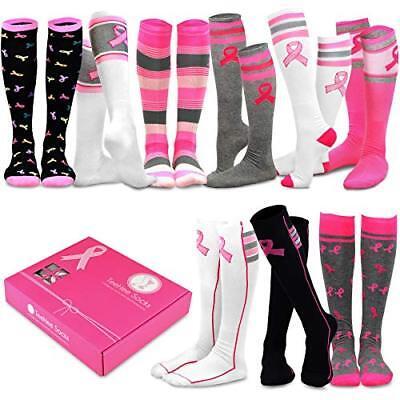 High Pink Socks (TeeHee Special (Holiday) Women Knee High 9-Pairs Socks Gift Box (Pink)