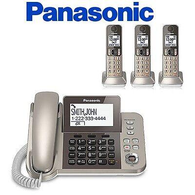 Panasonic KX-TGF353N 1 Corded Handset + 3 Cordless Phone W/  Night Mode Brand