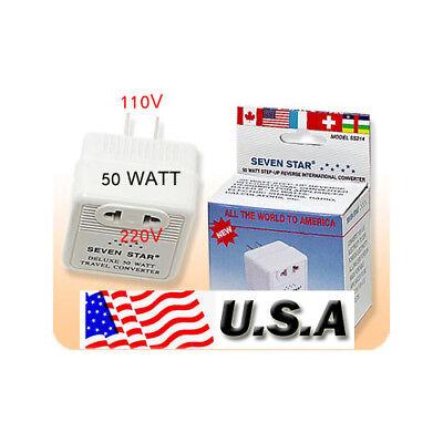 STEP UP VOLTAGE CONVERTER 110V to 220V TRANSFORMER 50W