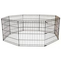 Pet Kennel Play Pen Exercise Cage -8 Panel
