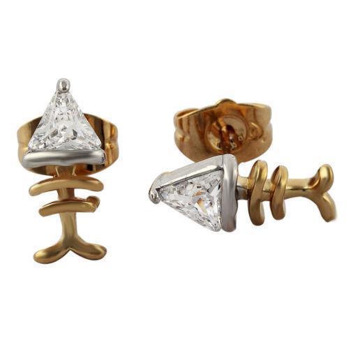 Fish bone earrings ebay for Fish bone earrings