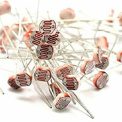 20pcs Photo Light Sensitive Resistor Photoresistor Optoresistor 5mm Gl5549 Ca