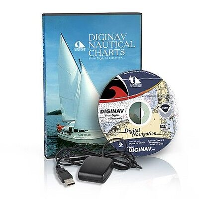 NOAA Nautical Charts GPS Marine Navigation Software DVD !!COMPLETE SYSTEM!! Marine Navigation System