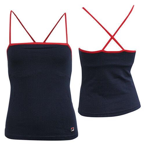 Details about Fila Sports Gym Navy Blue Spaghetti Strap Womens Vest Tank Top U88601 410 M19