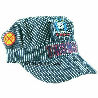 Thomas The Train Engineer Hat (THOMAS THE TANK & FRIENDS-CONDUCTOR TRAIN ENGINEER STRIPED CAP HAT **NEW/HTF**)