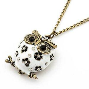Owl necklace ebay long owl pendant necklace aloadofball Image collections