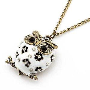 Owl necklace ebay long owl pendant necklace aloadofball