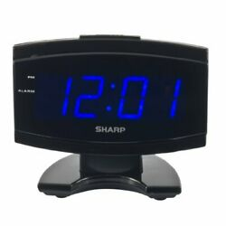 Digital Electric Alarm Clock Blue Led Large Display, Sharp, New, Free Shipping