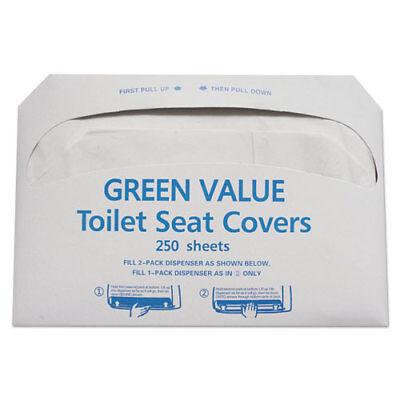 GEN Half-Fold Toilet Seat Covers White 14 3/4 x 16 1/2 5000/Carton GVTSC5000