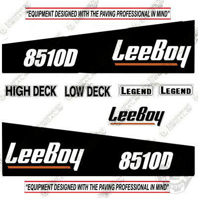 Leeboy 8510d Decal Kit Asphalt Paver Equipment Decals - 7 Year 3m Vinyl