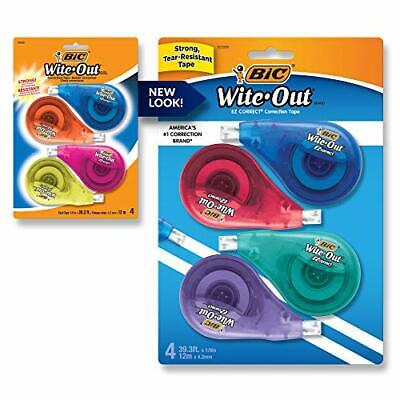 Bic Wite-out Brand Ez Correct Correction Tape White 4-count Tape Applies Dry ...