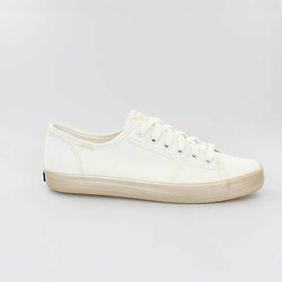 Schuhe Keds Schuh (KEDS DAMEN SCHUHE KICKSTART SHIMMER BEIGE CANVAS WF58112)