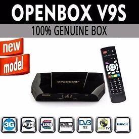 LATEST 2017 OPENBOX V9S SATELLITE RECEIVER & 12 MONTHS GIFT / IPTV / MAG250 / TV BOX