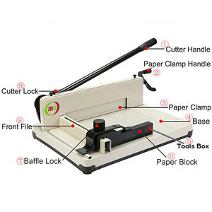 "12"" Manul High-End Guillotine Stack Paper Cutter   New!!!"