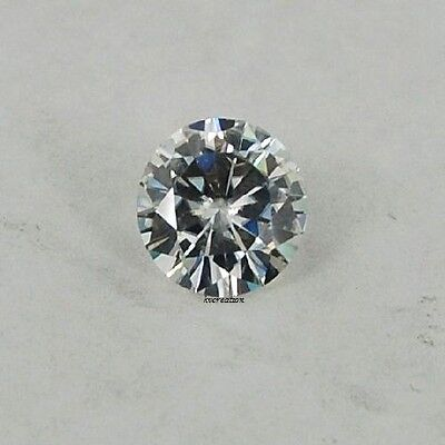 1.29 CT 7.12 MM OFF WHITE BLUE ROUND LOOSE MOISSANITE FOREVER BRILLIANT CUT NR