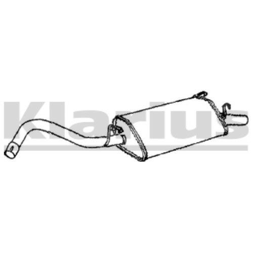 1x KLARIUS OE Quality Replacement Rear / End Silencer Exhaust For FORD Petrol