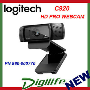 Logitech C920 HD Pro Webcam 15MP Full HD 1080p Autofocus Carl Zeiss Optics