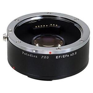 New Fotodiox Pro Autofocus 2x Teleconverter - AF Doubler x2.0 for Canon EOS EF, EF-S Camera and Lens (APS-C & Full Frame