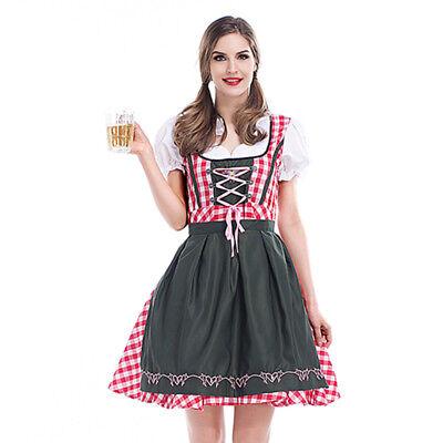 Cheer Traditional German Girls Oktoberfest Dirndl Fancy Servants Costume Dress D - Girls Cheer Costume