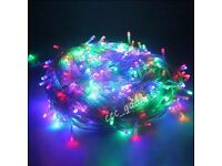 FOR PARTS 22m WATERPROOF MULTI COLOUR FAIRY LIGHTS XMAS CHRISTMAS PARTY WEDDING UK PLUG