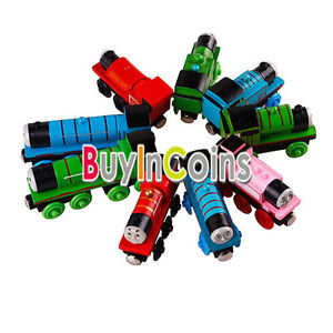 ... Wooden-Child-Funny-Baby-Train-Wheels-Thomas-2-3-4-Pairs-Of-Friends-Toy