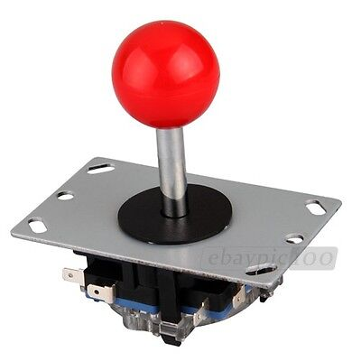 Replacement Red Ball 8 Way Joystick Fighting Stick Parts for Video Games Arcade