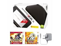 Boxed Nintendo 3DS XL + Pokemon Omega Ruby and Sun + Accessories