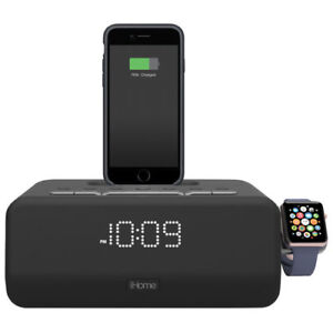 iHome Bluetooth Clock Radio with Apple Watch and Lightning Charg