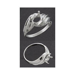 8x6mm-Oval-Side-Swirl-Solid-Sterling-Silver-Cast-Ring-Setting-Ring-Sizes-4-11