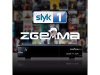 Zgemma H.2s + 500GB Hard Drive - Twin Satellite Receiver Pause/Rewind & Record - 12 mth Sub (New )