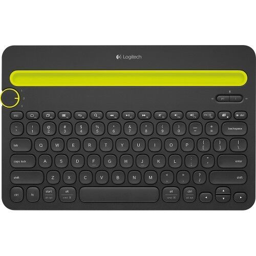 Logitech K480 920-006342 Black Bluetooth Wireless Mini Multi-Device Keyboard