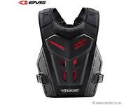 EVS Adult Revo 4 Chest Body Armour Motocross Enduro Neck Brace Compatible Black