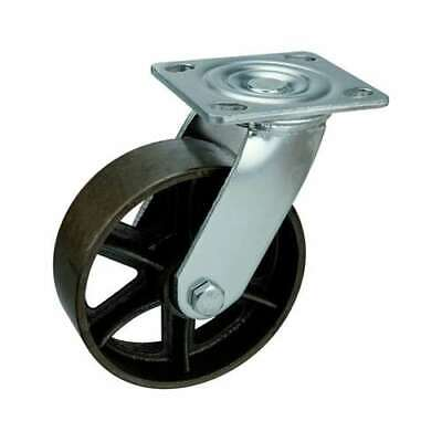 6 Inch Caster Wheel 617 Pounds Swivel Cast Iron Top Plate