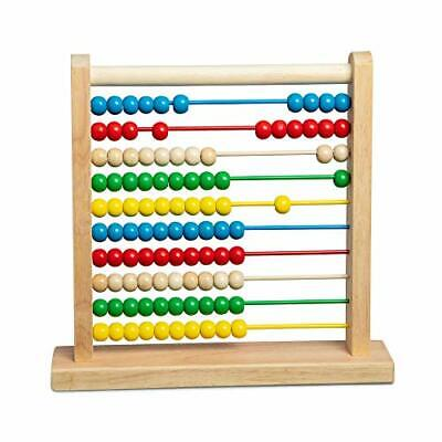 Melissa & Doug Abacus Classic Wooden Toy (Standard Packaging)