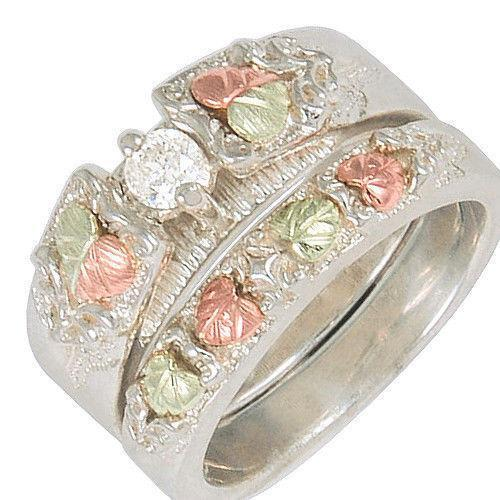 tone outlet w double zales rose rings wedding engagement frame diamond ring v in c two t gold