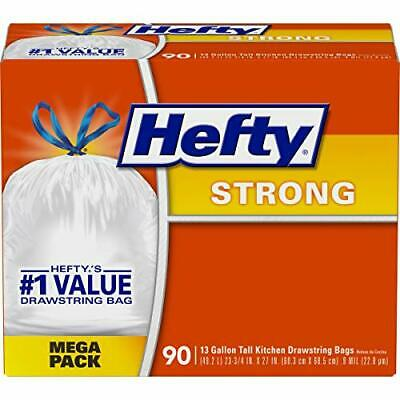 Hefty Strong Tall Kitchen Drawstring Trash Bags 90-Count Bags