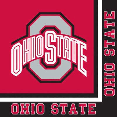 OHIO STATE UNIVERSITY LUNCH NAPKINS (20) ~ Birthday Party Supplies Serviettes - Ohio State Party Supplies