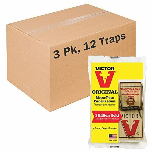 Victor Traditional Wooden Mouse Trap - 12 Pack