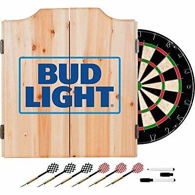 Bud Light Wood Dart Cabinet Set