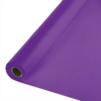 Amethyst Plastic Tablecloth 100-foot Roll Touch of Color - Plastic Tablecloth Rolls