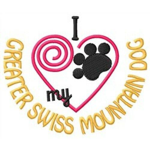 "I ""Heart"" My Greater Swiss Mountain Dog Short-Sleeved T-Shirt 1438-2 Size S - XX"