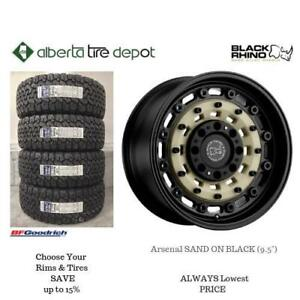 OPEN 7 DAYS LOWEST PRICE Save Up To 10% Black Rhino Arsenal SAND ON BLACK (9.5). Alberta Tire Depot.